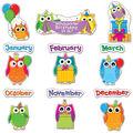 Colorful Owls Birthday Bulletin Board Set