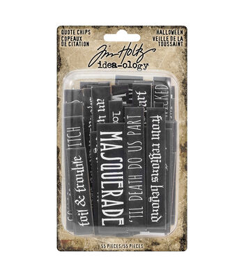 Tim Holtz Idea-ology Halloween-Quote Chips