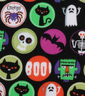 Halloween Cotton Fabric 43\u0022-Monster Circles