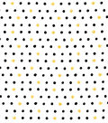 Nursery Cotton Fabric-Black Dots on White