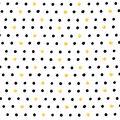 Nursery Cotton Fabric-Black Dots on White