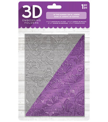 Crafter's Companion 5''x7'' 3D Embossing Folder-In the Garden