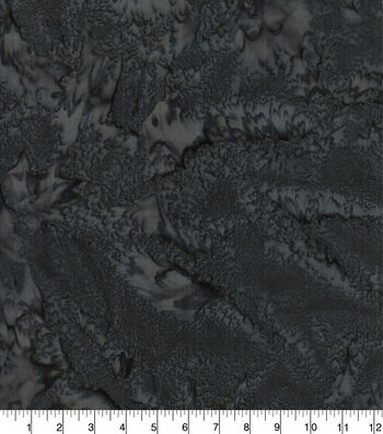 Cotton Fabric 44''-Black Tonal Batik