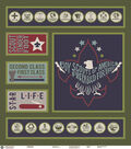 Boy Scout Felt Panel Fabric 44\u0022-Path to Eagle