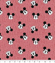 Disney Mickey Mouse Faces Knit Fabric, , hi-res