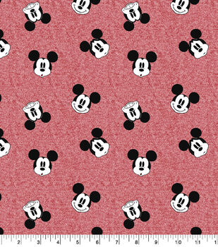 Disney Mickey Mouse Faces Knit Fabric