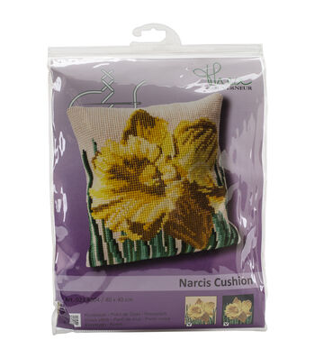 "Narcis Cushion Tapestry Kit-15.75""X15.75"" 18 Count"