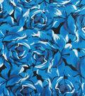 Keepsake Calico Cotton Fabric 43\u0022-Packed Roses Blue