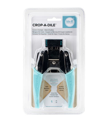 We R Memory Keepers Crop-A-Dile Corner Chomper Tool-Stub/Scallop