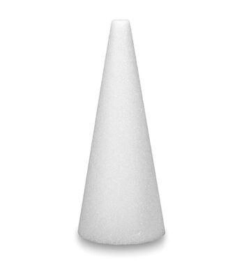 "Stryofoam Cone 15""X4"" Bulk-White"