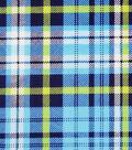 Soft & Comfy Fleece Fabric-Blue & Green Plaid
