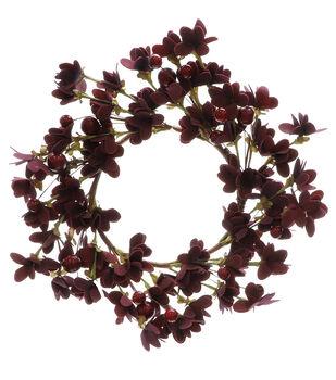 Blooming Autumn Mini Wreath-Red