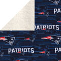 New England Patriots Fleece Fabric-Sherpa