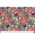 Quilter\u0027s Showcase Fabric -Navy Marigold & Floral