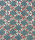 Anti-Pill Plush Fleece Fabric-Blush Gray Lattice