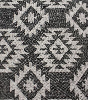 "Sportswear Jacquard Fabric 57""-Charcoal Aztec"