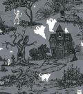 Halloween Cotton Fabric -Glow In The Dark Haunted House