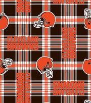 Cleveland Browns Fleece Fabric -Plaid, , hi-res