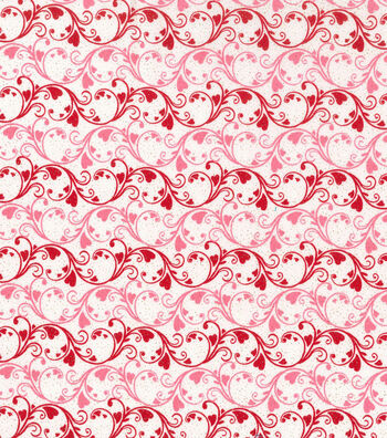 Holiday Inspirations Valentine's Day Fabric 43''-Scrolly Hearts