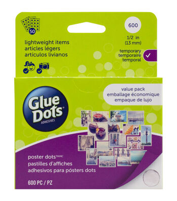 Glue Dots 1/2'' Poster Dots 600 Pc