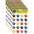 Teacher Created Resources Colorful Paw Prints Stickers Valu-Pak 26 Packs
