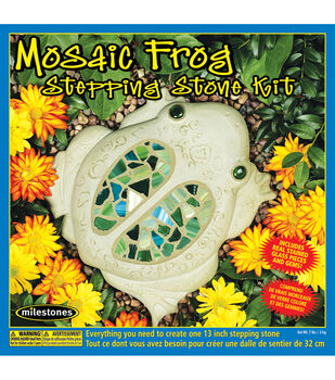 3f0f31402a24 Midwest Products Mosaic Frog Stepping Stone Kit