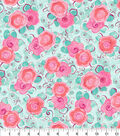 Snuggle Flannel Fabric -Pink Floral