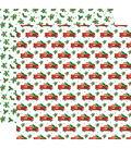 Santa\u0027s Workshop Double-Sided Cardstock 12\u0022X12\u0022-Tree Haul