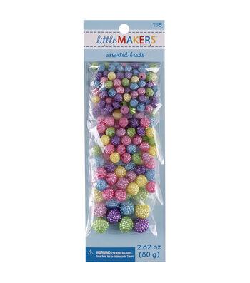 Little Maker's Round Beads-Pastel Multi