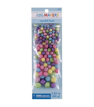 Little Makers 2.82 oz. Round Beads-Multi Pastel
