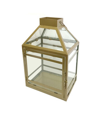 Save the Date Gold Metal Lantern
