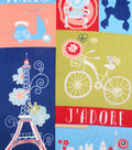 No-Sew Throw Fleece Fabric 72\u0022-J\u0027Adore Paris