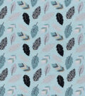 Nursery Flannel Fabric 42\u0022-Feathers