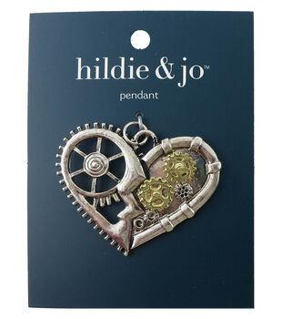 hildie & jo Gear Heart Pendant