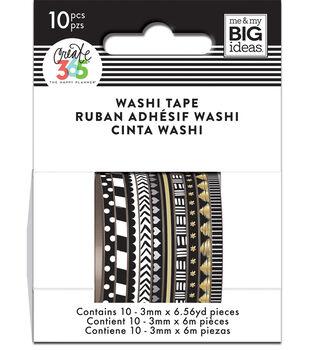 The Happy Planner Mini Washi Tape-Black & White