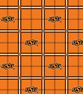 Oklahoma State Cowboys Flannel Fabric 42\u0022-Plaid