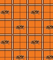 "Oklahoma State Cowboys Flannel Fabric 42""-Plaid, , hi-res"