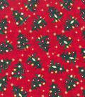 Keepsake Calico Holiday Cotton Fabric 43\u0022-Metallic Trees