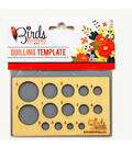 Three Birds-Quilled Treasures-Quilling Template