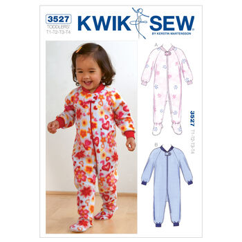 Kwik Sew Pattern K3527 Toddlers' Sleep & Lounge