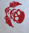 Flocked Skulls & Bats Red/blk