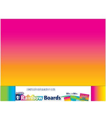 ArtSkills 2 pk 22''x28'' Poster Boards-Rainbow