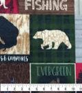 Anti-Pill Plush Fabric 58\u0022-Everest Word Patch