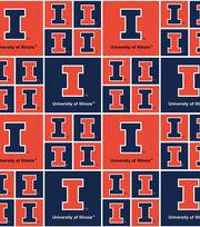 "University of Illinois Fighting Illini Cotton Fabric 43""-Block, , hi-res"