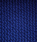 Coastal Lagoon Poly Cotton Spandex Knit Fabric-Navy Pucker