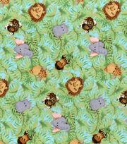 Nursery Cotton Fabric -Jungle Babies, , hi-res