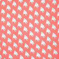 Fast Fashion Dobby Print Fabric-Coral Tossed Fish