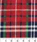 Luxe Fleece Fabric -Red, Navy, Oatmeal & Heather Plaids