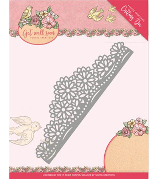 Find It Trading Yvonne Creations Get Well Soon Die Flower Border, , hi-res, image 1