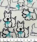 Super Fleece Fabric 58\u0027\u0027-Pups with Bows